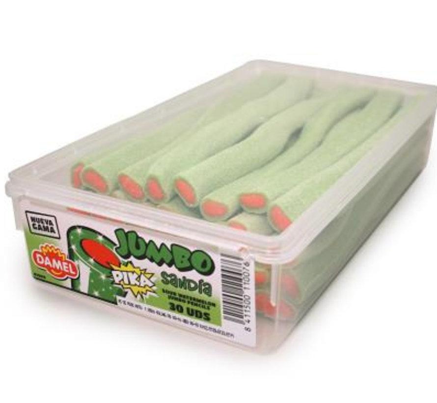 Jumbo Sour Watermelon Sticks Doos 30 Stuks  Damel