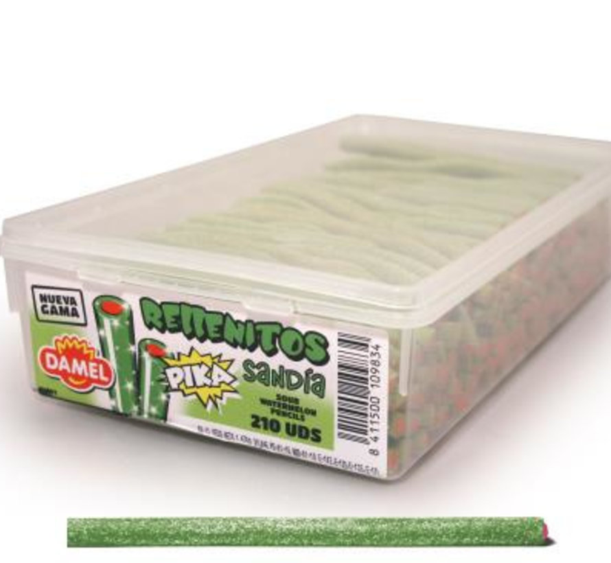 Pika Rellenito Zure Watermeloen  Doos 210 Stuks Damel