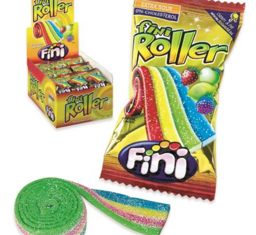 Zure Roller Rainbow 20Gr -Doos 40 Stuks Fini