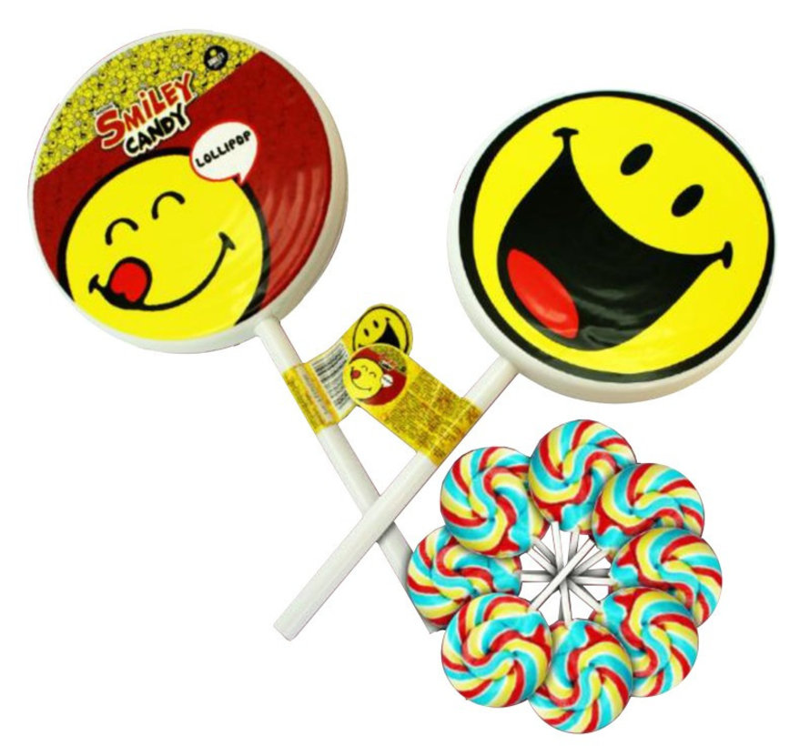 Smiley Big Lollypop  Doos 6 Stuks