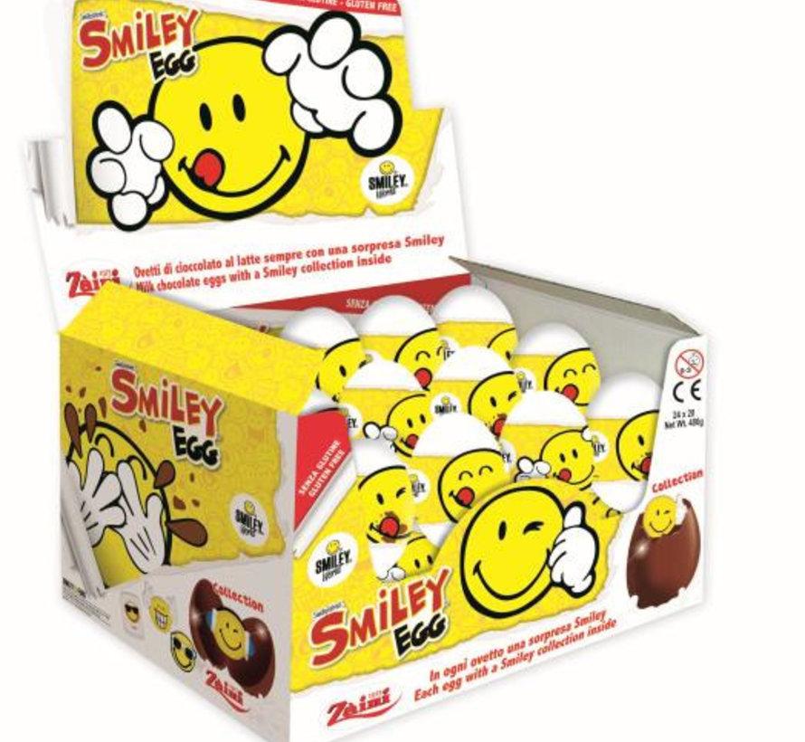Verrassings  Chocolade  Ei Smiley Doos 24 Stuks