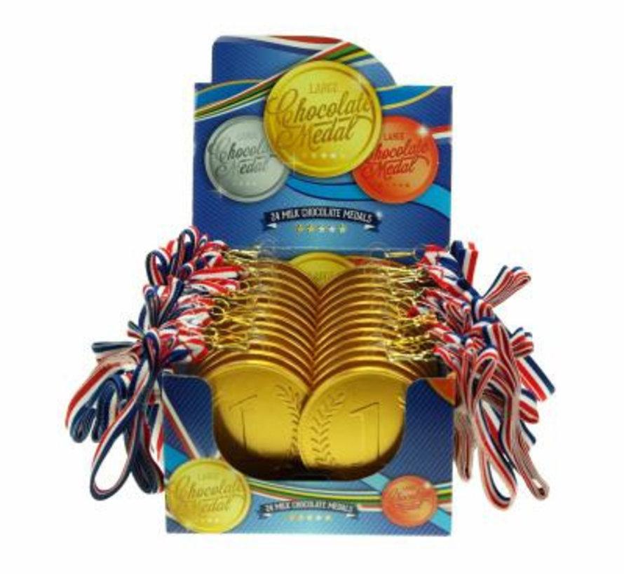 Medaille Nr1+Lint Showdoos 24 Stuks