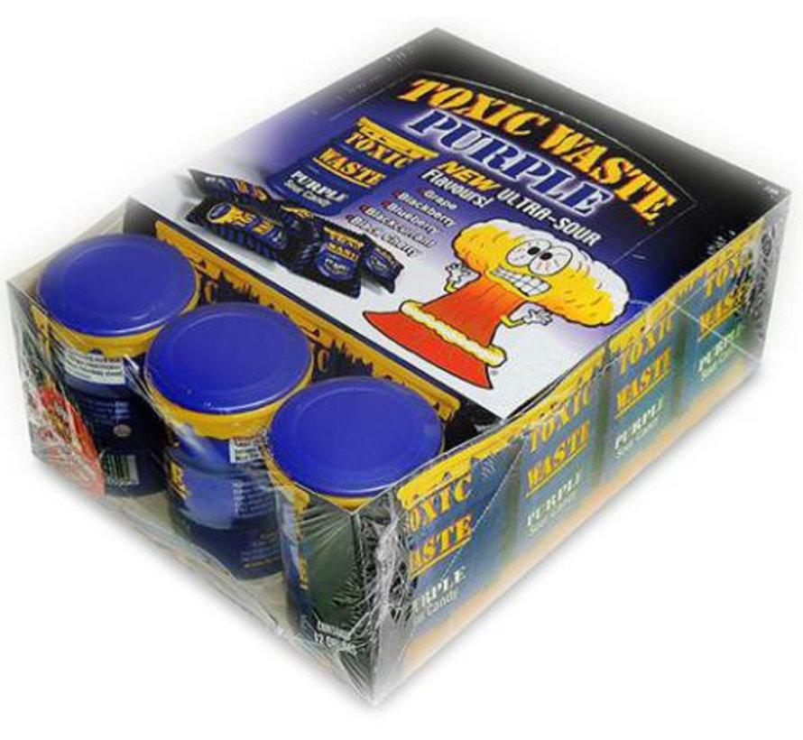 Toxic Waste Drum Paars Doos 12 Stuks