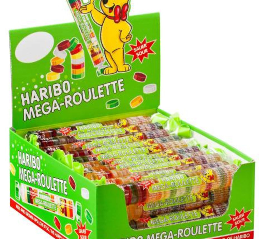 Mega Roulette Zuur Rol Doos 40 Stuks