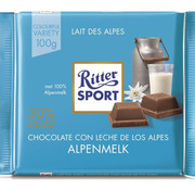Ritter Sport Ritter Sport Alpine Milk Chocolade Doos 12X 100 Gram