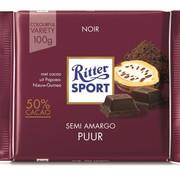 Ritter Sport Ritter Sport Dark Chocolate 50% Doos 12 X 100Gr
