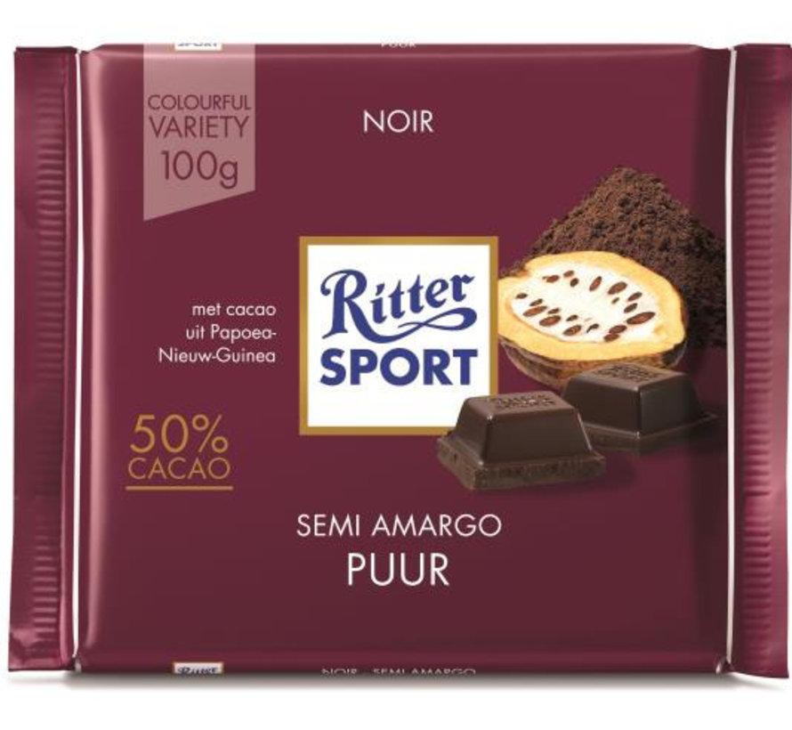 Ritter Sport Dark Chocolate 50% Doos 12 X 100Gr