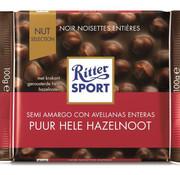 Ritter Sport Ritter Sport Dark Whole Hazelnuts  Doos 10X 100Gr