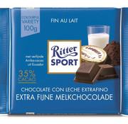 Ritter Sport Ritter Sport Extra Fine Milk Chocolade 35% Doos 12X 100Gr