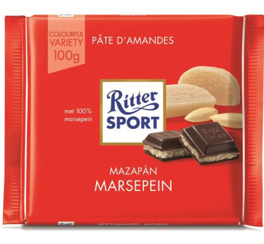 Ritter Sport Marzipan Doos 12X 100Gr