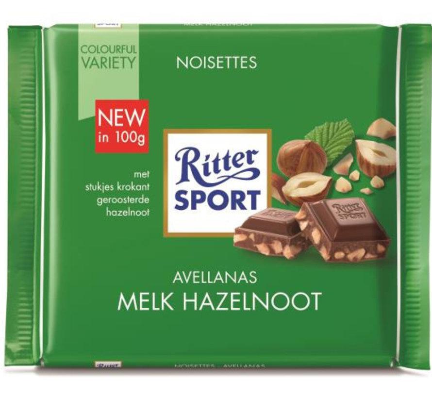 Ritter Sport Melk  Gebr. Hazelnoot  Doos 12X  100Gr