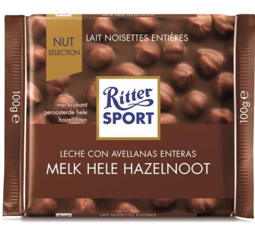 Melk Hele Hazelnoot  Doos 10X 100Gr