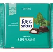 Ritter Sport Ritter Sport Peppermint Doos 12 X 100 Gr