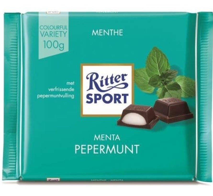 Ritter Sport Peppermint Doos 12 X 100 Gr