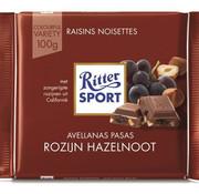 Ritter Sport Ritter Sport Raisins & Hazelnuts Doos 12X 100 Gr