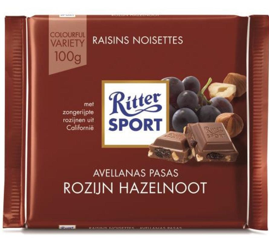 Ritter Sport Raisins & Hazelnuts Doos 12X 100 Gr