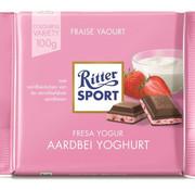Ritter Sport Ritter Sport Aardbeien Yoghurt Doos 12X 100 Gr