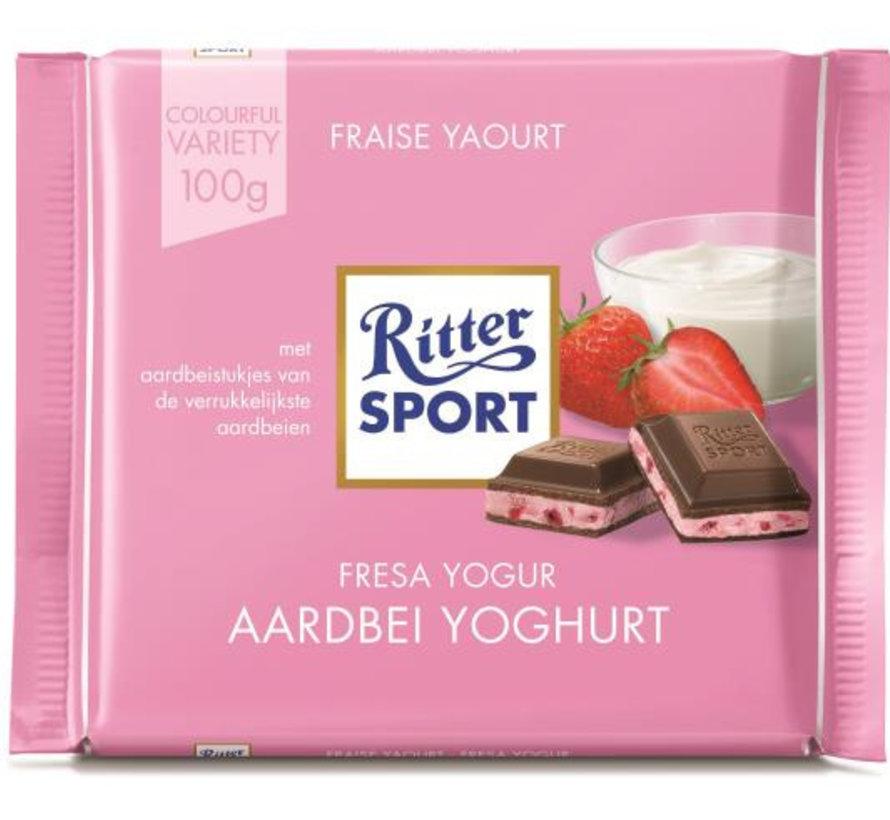 Ritter Sport Aardbeien Yoghurt Doos 12X 100 Gr