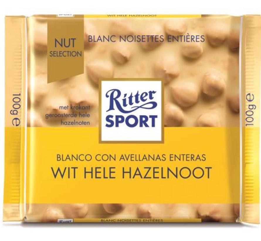 Ritter Sport Witte Hele Hazelnoot - Doos 10X 100Gr