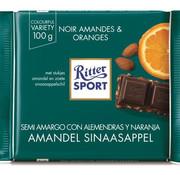 Ritter Sport Ritter Sport Puur Chocolade Amandel Sinaasappel-Doos 12X 100Gr