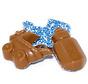 Wiegje & Melkfles Blauw Wit Musket  2.5 Kg