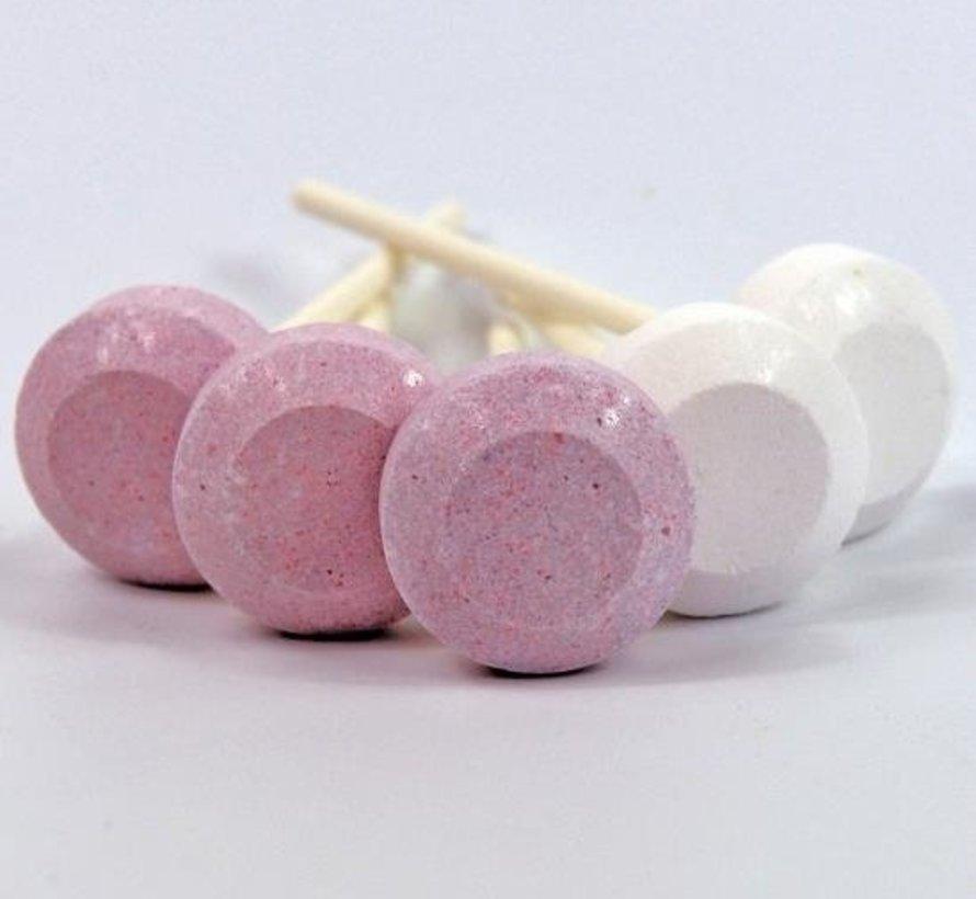 Roze En Witte Dextro Lolly Silo 500Gr