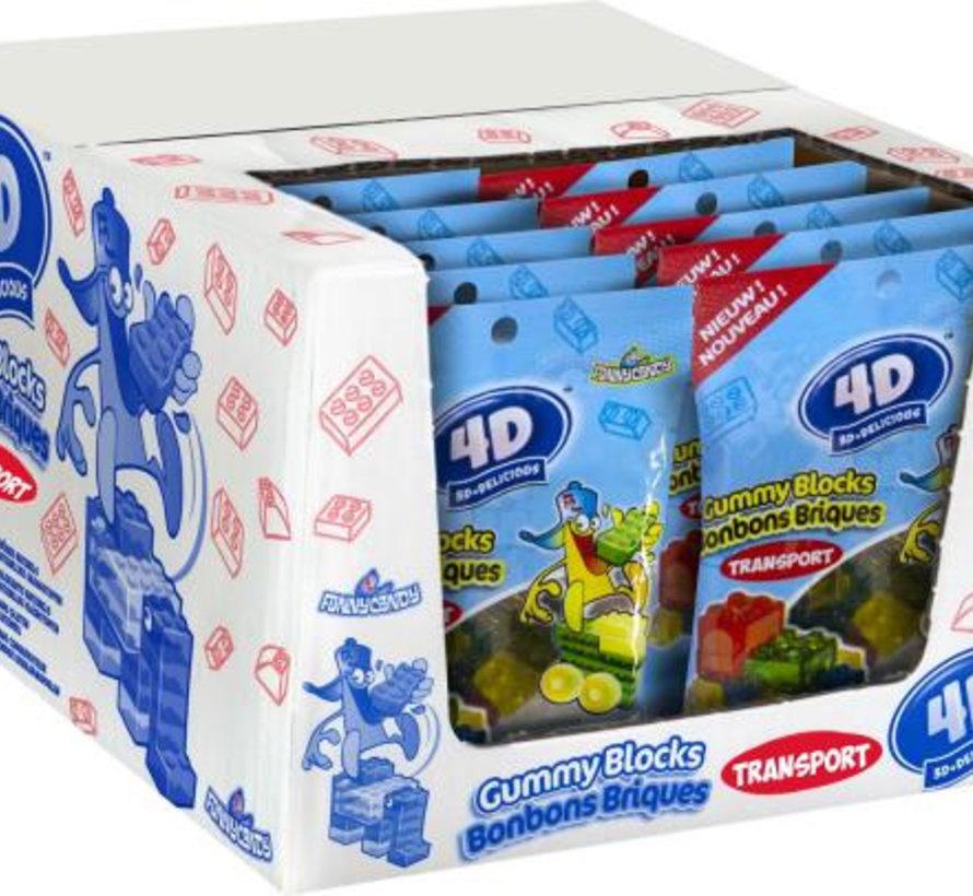 4D Gummy Blocks Transport Doos 24 Stuks