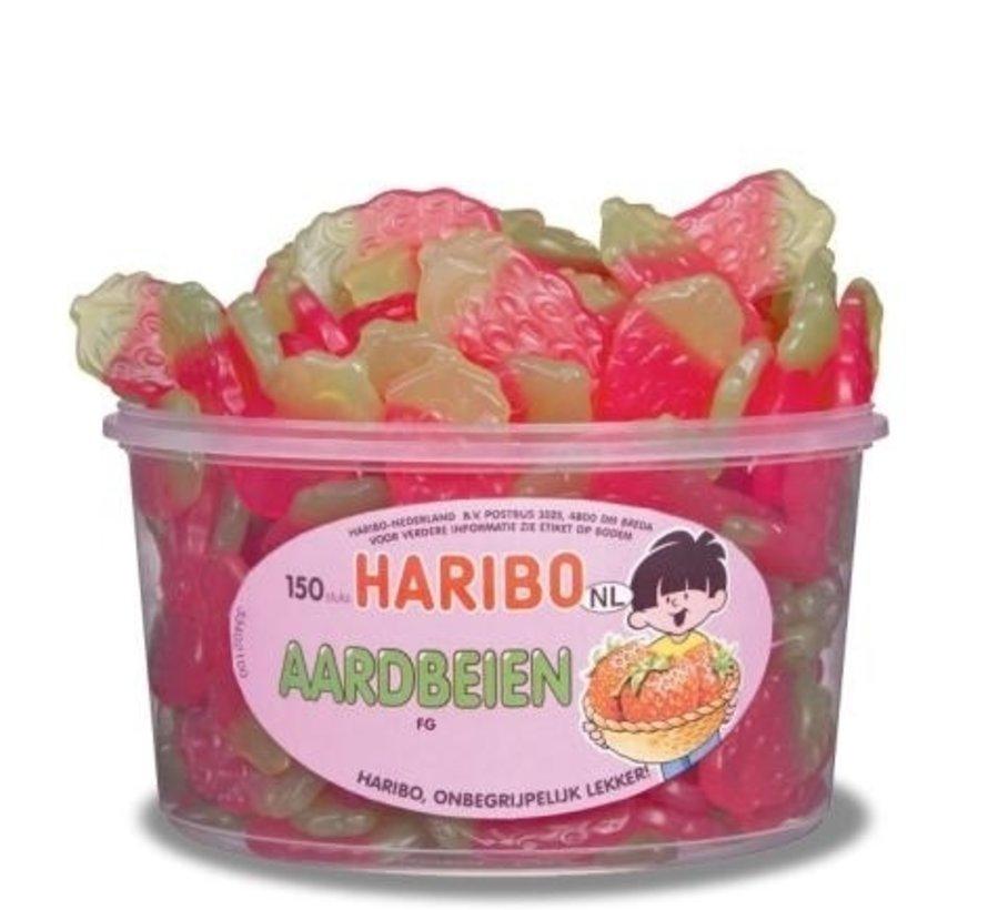 Aardbeien Haribo Silo 150 Stuks VEGGIE