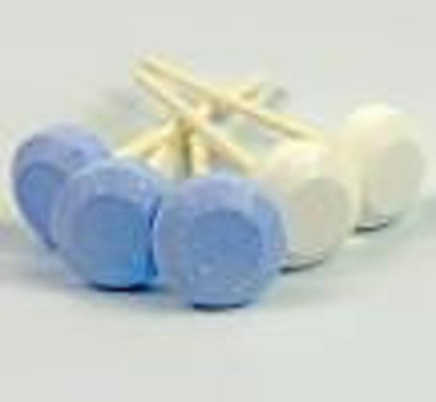 Blauwe En Witte Dextro Lolly  Silo 500Gr