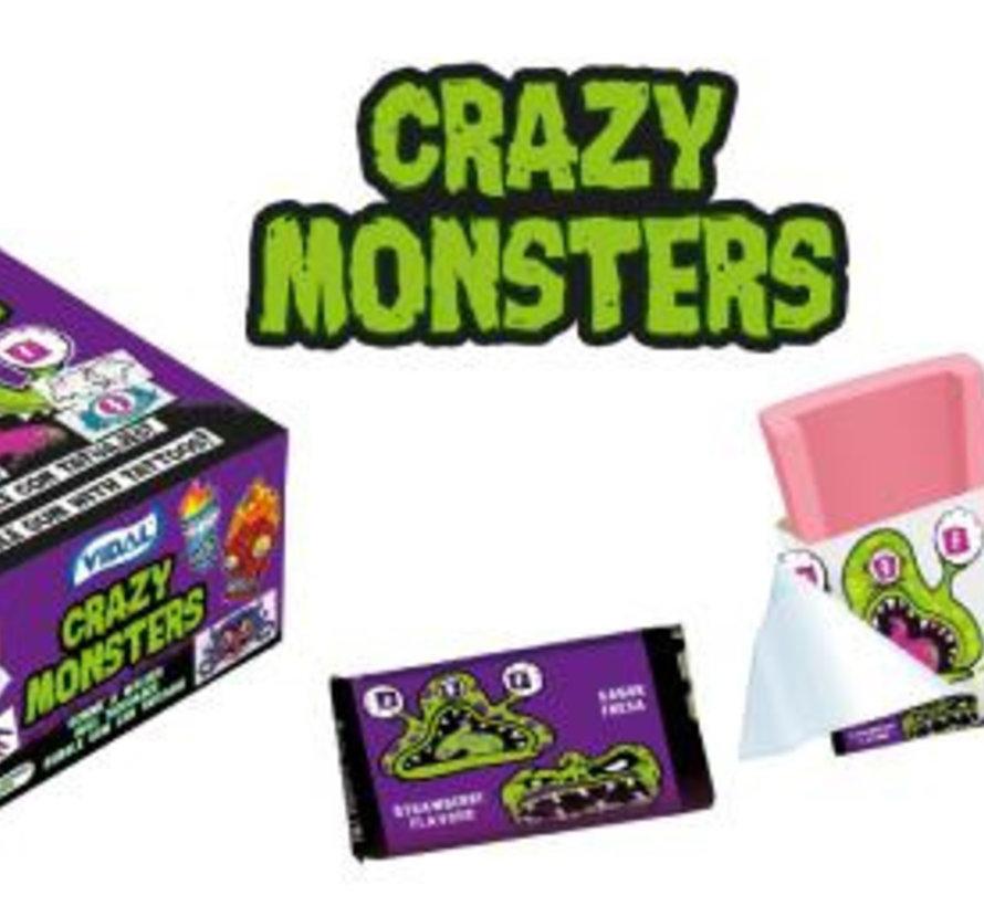 Crazy Monster Tattoo Bubbel Gum Doos 200 Stuks
