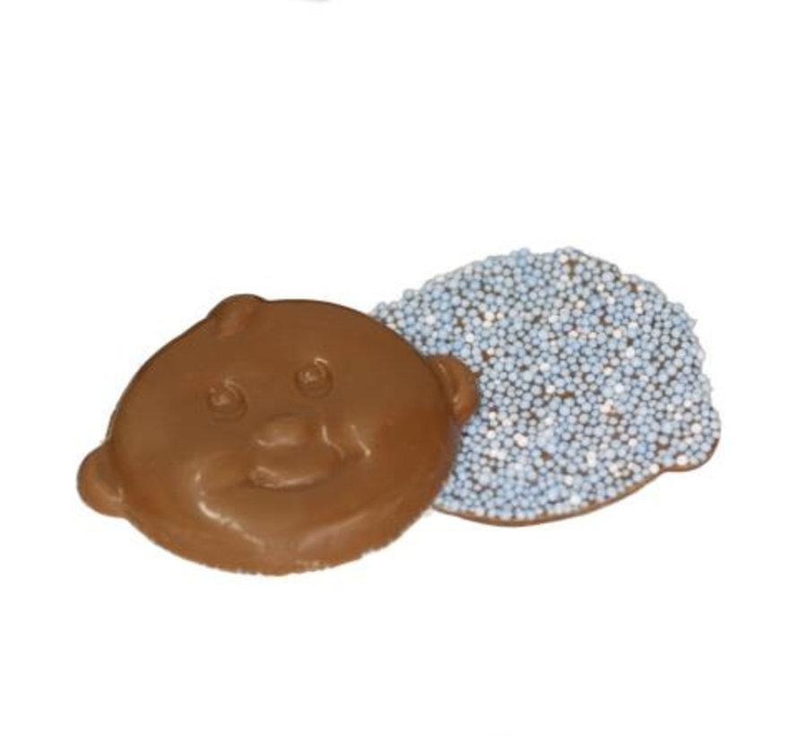 Baby Snoetjes Blauw Wit Musket Doos 2 Kg