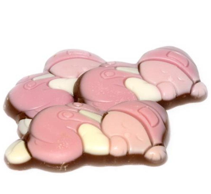 Chocolade Baby Melk Wit Roze Doos 2 Kg
