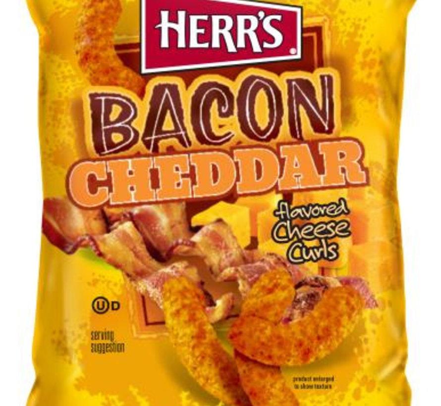 Herr's Cheddar Bacons Cheese Curls -Doos 9x199 gram