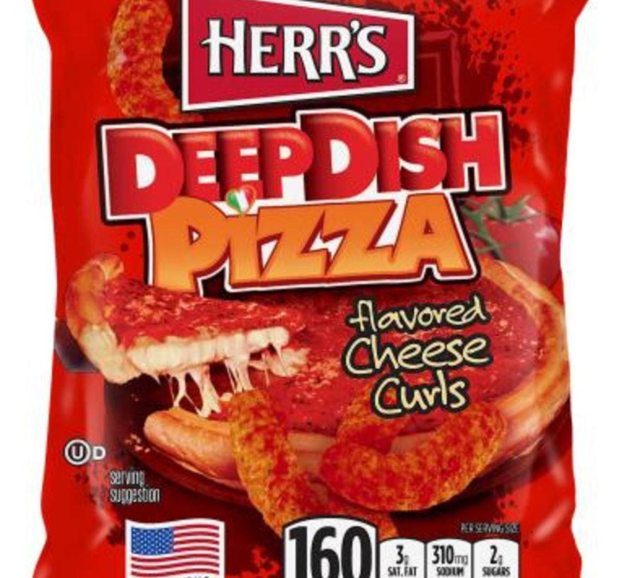 Herr's Cheese Curls Deep Dish Pizza -Doos 42x28 gram