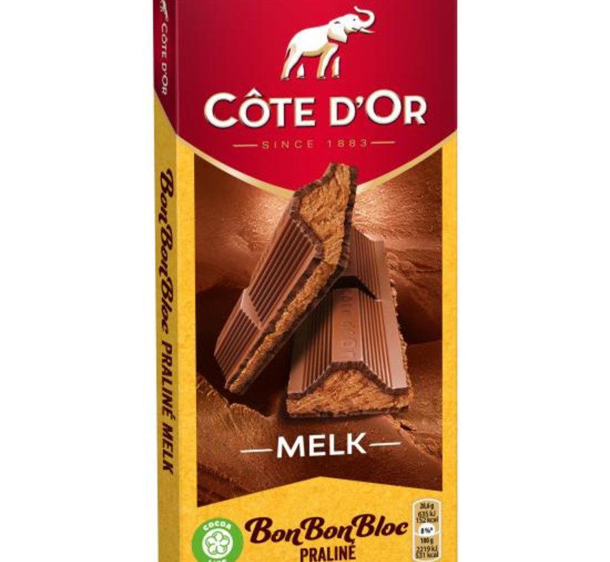Cote D'or Bonbonbloc Melk Praline  Doos 15 X 200 Gram