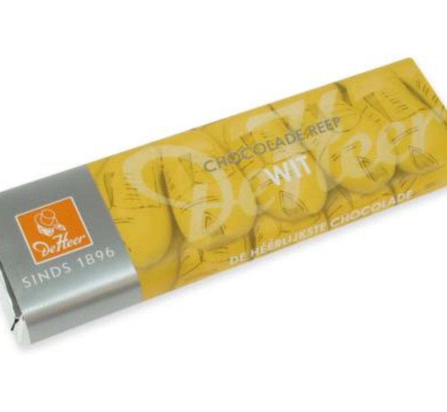 De Heer Witte Chocolade Reep Doos 24 X 75 Gr