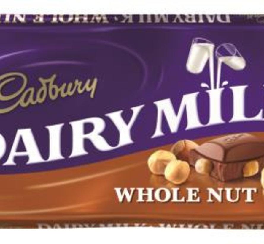 Cadbury Whole Nut 110 Gr - Doos 16 Stuks