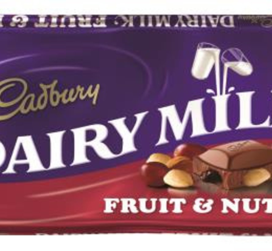 Cadbury Fruit&Nut 110 Gr Doos 18 Stuks