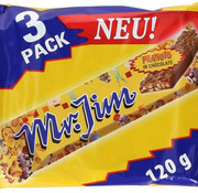 Mr.Jim Mr Jim Peanuts Reep 3 Pack -  Doos 12 Stuks