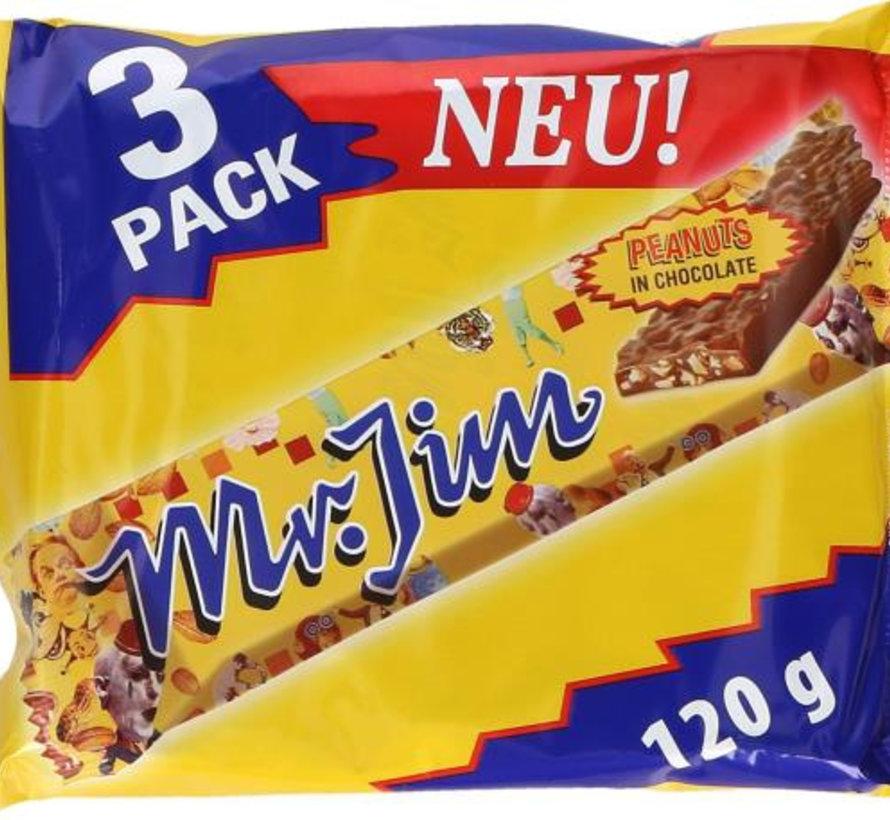 Mr Jim Peanuts Reep 3 Pack -  Doos 12 Stuks