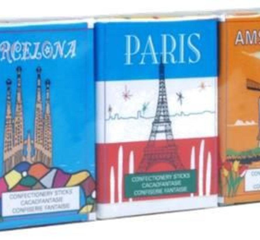 Chocolade Sticks Steden 3 Pack Doos 36 Stuks