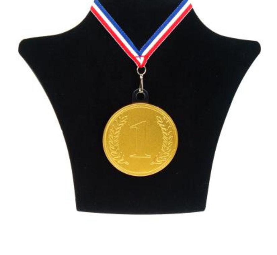 Chococlade Medaille Nr1+Lint Silo  10 Stuks