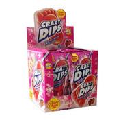 Chupa Chups Crazy Dips Knetter Lollly Strawberrydoos 24 Stuks