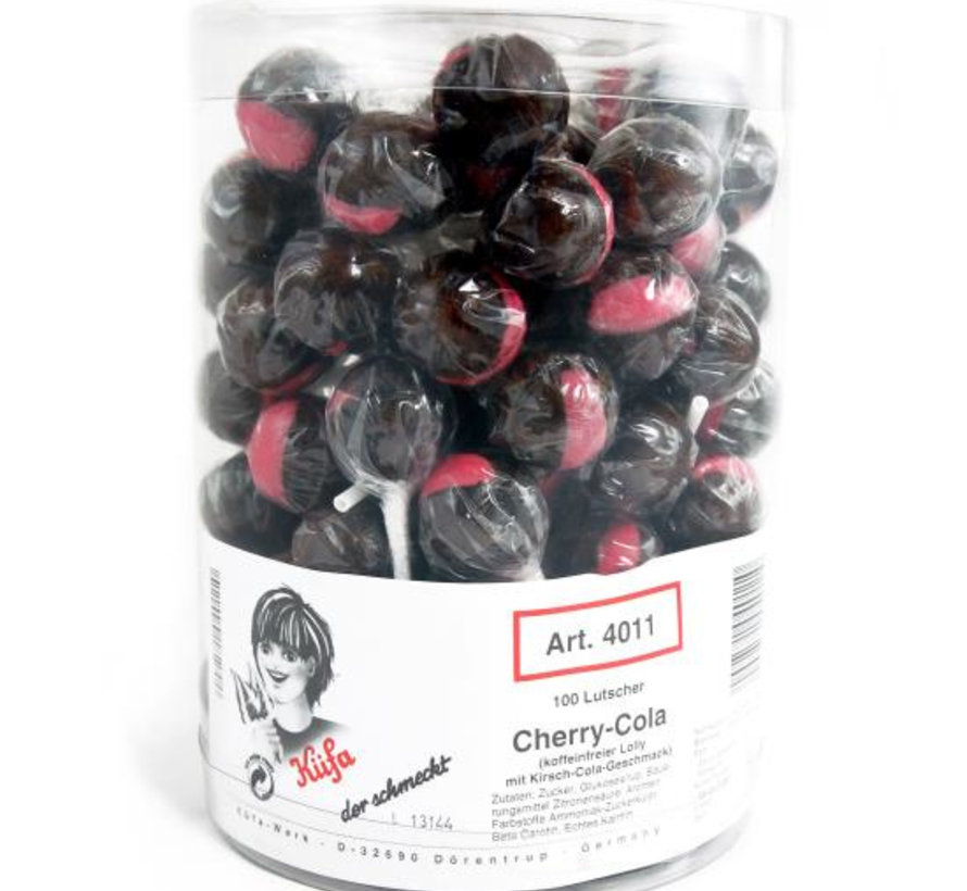 Cherry Cola Lolly Silo 100 Stuks