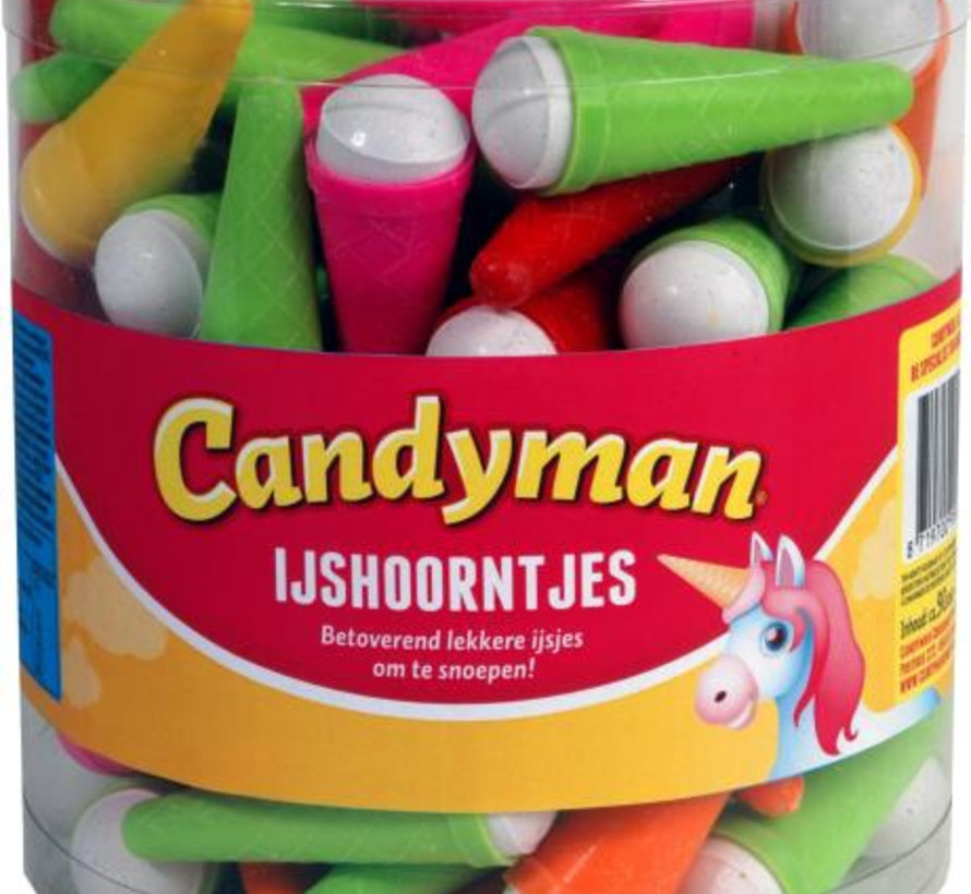 Candyman Ijshoorntjes Silo 90 Stuks