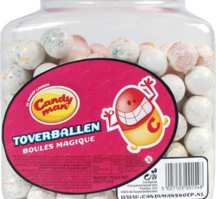 Candyman Toverbal Klein Wit  Silo 300 Stuks