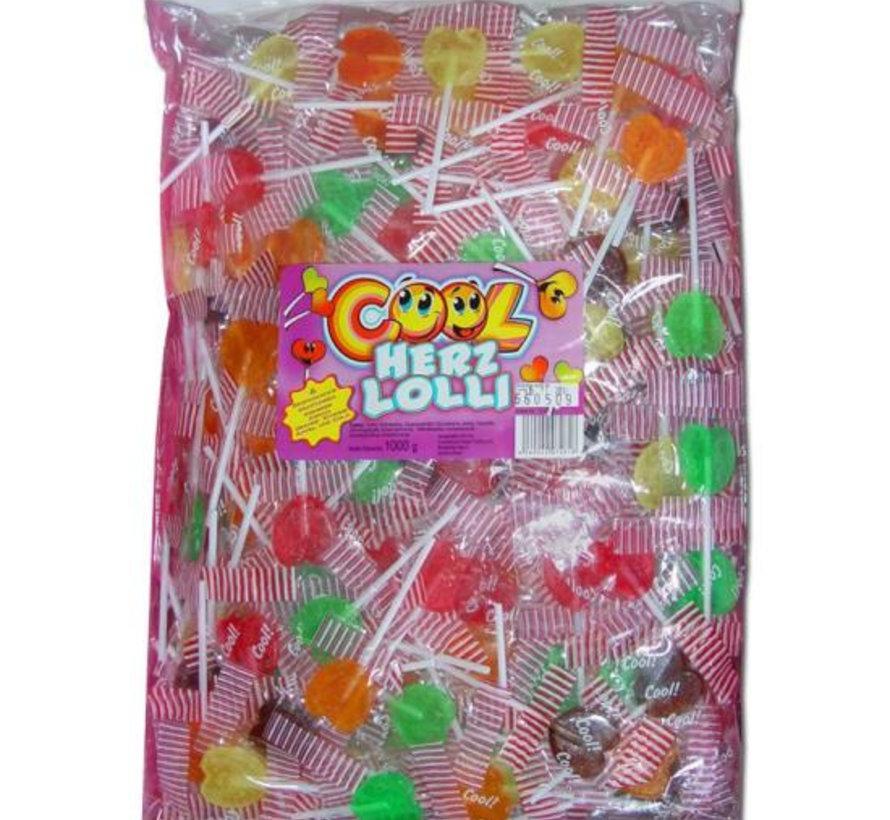 Cool Hart Lolli Mix (Herz) Zak 200 Stuks