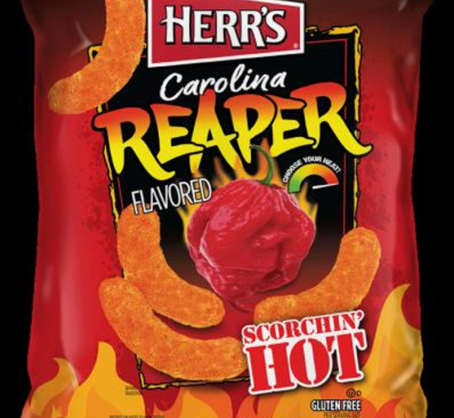 Herr's Carolina Reaper Cheese Curls -Doos 12x184 gram