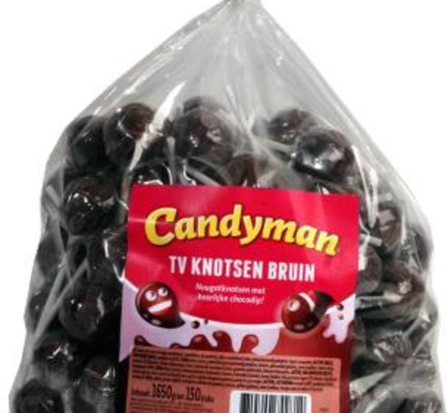 Candyman Tv Knotsen Bruin - 150 Stuks