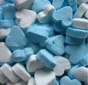 Baby Blauwe Pepermunt Mini Hartjes 1 Kilo